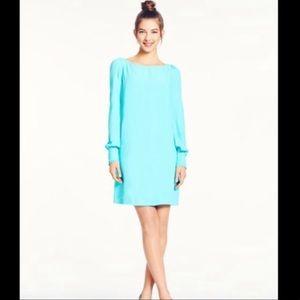 Kate Spade Crape Dress in Paris Tiffany Blue Sz4